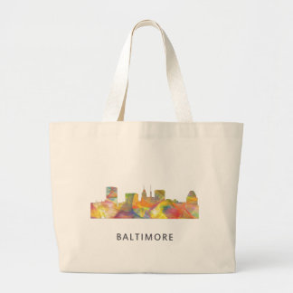 BALTIMORE MARYLAND SKYLINE WB1 - LARGE TOTE BAG