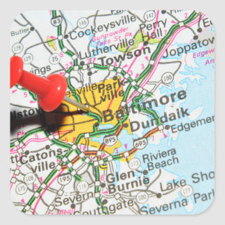 Baltimore, Maryland Square Sticker