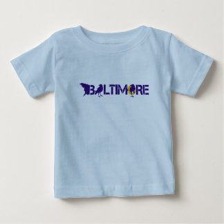 Baltimore Maryland with Blackbirds Baby T-Shirt