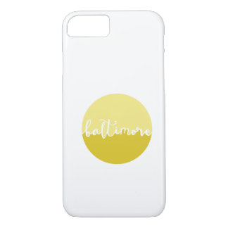 Baltimore, Maryland   yellow ombre calligraphy iPhone 7 Case