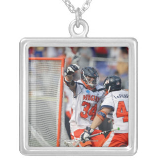 BALTIMORE, MD - MAY 30:  Colin Briggs #34 2 Silver Plated Necklace