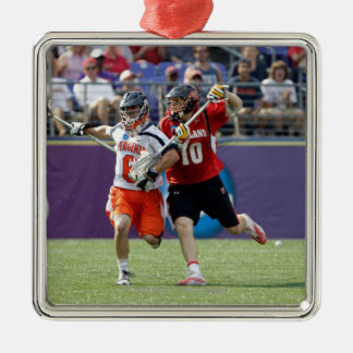 BALTIMORE, MD - MAY 30: Goalie Adam Ghitelman #8 Christmas Ornament