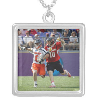 BALTIMORE, MD - MAY 30: Goalie Adam Ghitelman #8 Silver Plated Necklace