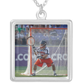 BALTIMORE, MD - MAY 30:  Goalie Adam Ghitelman Silver Plated Necklace