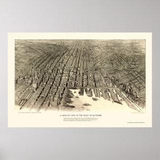 Baltimore, MD Panoramic Map - 1912 Poster