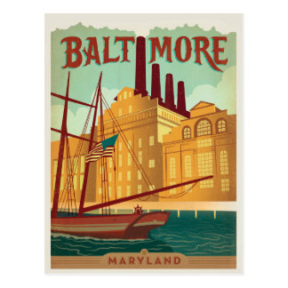 Baltimore, MD Postcard