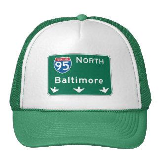 Baltimore, MD Road Sign Cap