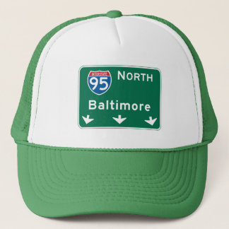 Baltimore, MD Road Sign Trucker Hat