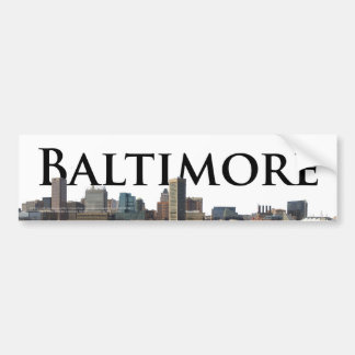 Baltimore MD Skyline with Baltimore in the Sky Car Bumper Sticker