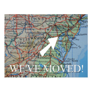 Baltimore New Address announcement Postcard