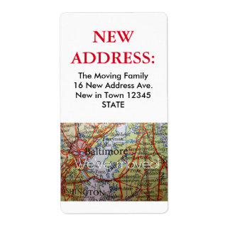 Baltimore New Address Label