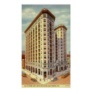 Baltimore & Ohio Building, Baltimore MD Vintage Posters