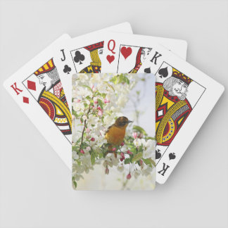 Baltimore Oriole and spring blossoms Playing Cards