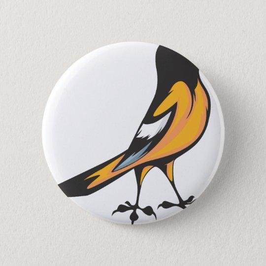 Baltimore Oriole Bird 6 Cm Round Badge
