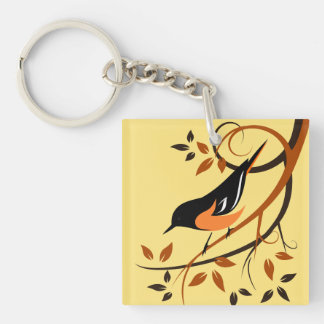 Baltimore Oriole Bird Lover Gifts Key Ring