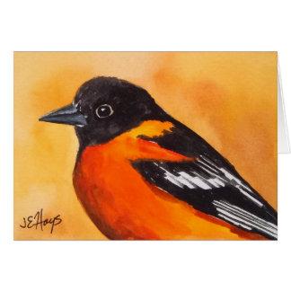 Baltimore Oriole Bird Note Card