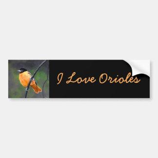Baltimore Oriole Bumper Sticker