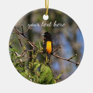 Baltimore Oriole in the Spring Christmas Ornament
