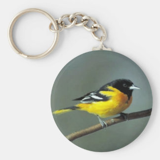 Baltimore Oriole on a branch Key Ring