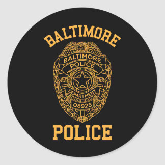 baltimore police maryland detective round sticker