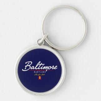 Baltimore Script Key Ring