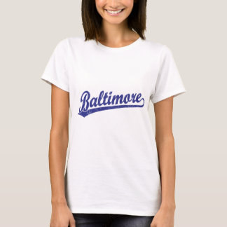 Baltimore script logo in blue T-Shirt