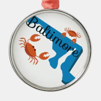 Baltimore Silver-Colored Round Decoration