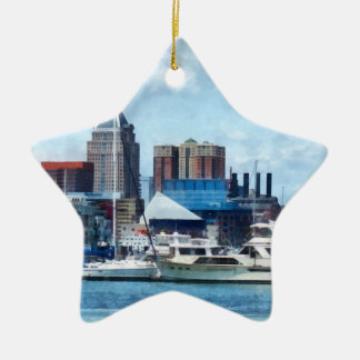 Baltimore Skyline and Harbor Christmas Ornament