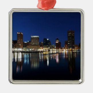 Baltimore Skyline at Dusk Christmas Ornament