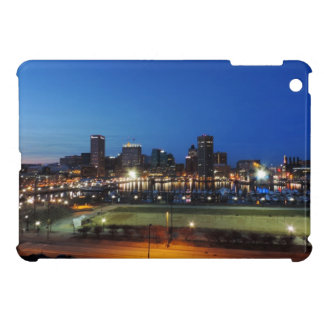 Baltimore Skyline at Dusk Cover For The iPad Mini