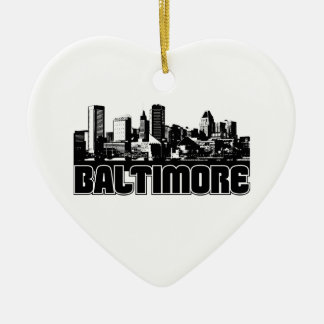 Baltimore Skyline Christmas Ornament
