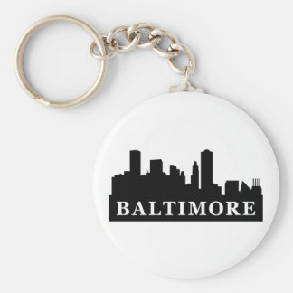 Baltimore Skyline Key Ring
