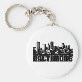 Baltimore Skyline Key Ring
