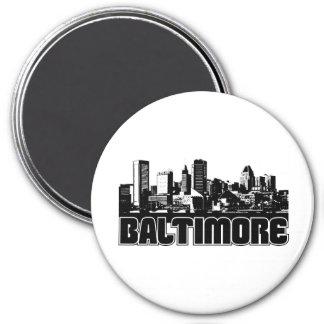 Baltimore Skyline Magnet