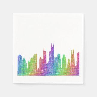 Baltimore skyline paper napkins