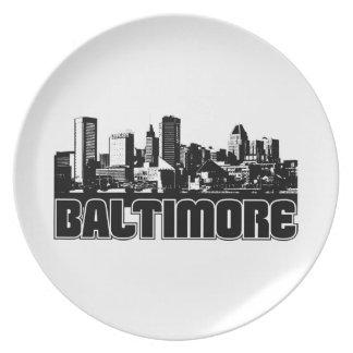 Baltimore Skyline Plate