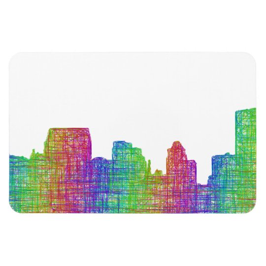 Baltimore skyline rectangular photo magnet