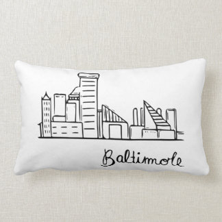 Baltimore Skyline - Throw Pillow