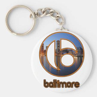 Baltimore things key ring