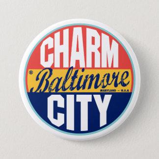 Baltimore Vintage Label 7.5 Cm Round Badge