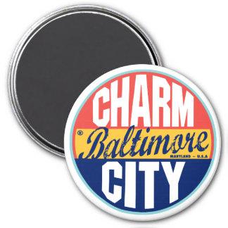 Baltimore Vintage Label 7.5 Cm Round Magnet