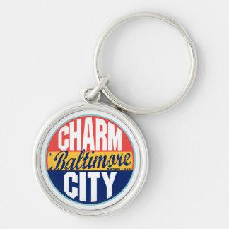 Baltimore Vintage Label Key Ring