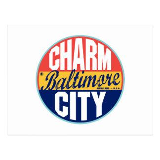 Baltimore Vintage Label Postcard