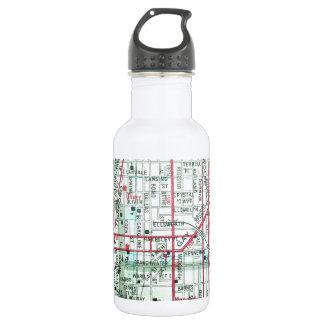 BALTIMORE Vintage Map 532 Ml Water Bottle
