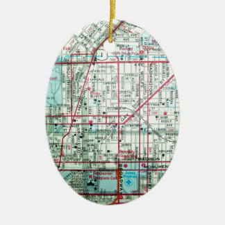 BALTIMORE Vintage Map Christmas Ornament