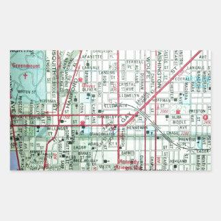 BALTIMORE Vintage Map Rectangular Sticker