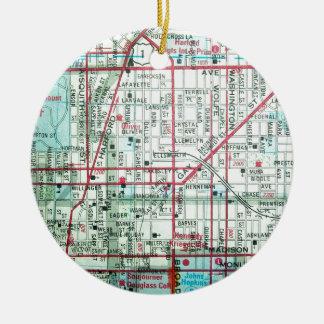 BALTIMORE Vintage Map Round Ceramic Decoration