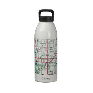 BALTIMORE Vintage Map Reusable Water Bottles