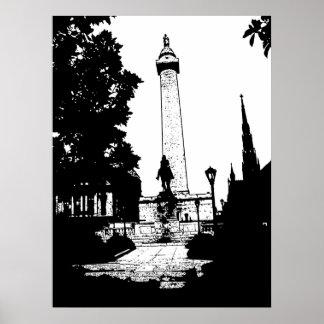 Baltimore Washington Monument Poster