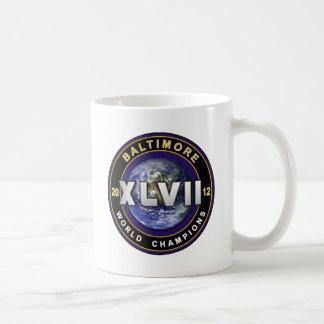 Baltimore XLVII World Champions Football Shirt Basic White Mug